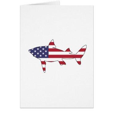 """USA Themed Shark """"American Flag"""" Card"""
