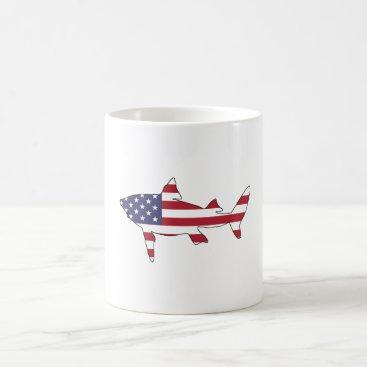 """USA Themed Shark """"American Flag"""" Coffee Mug"""