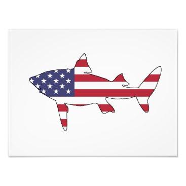 """USA Themed Shark """"American Flag"""" Photo Print"""