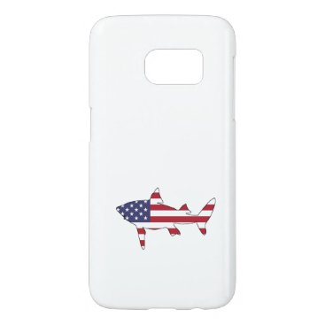 "USA Themed Shark ""American Flag"" Samsung Galaxy S7 Case"