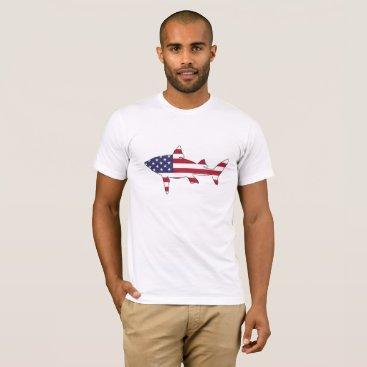 "USA Themed Shark ""American Flag"" T-Shirt"
