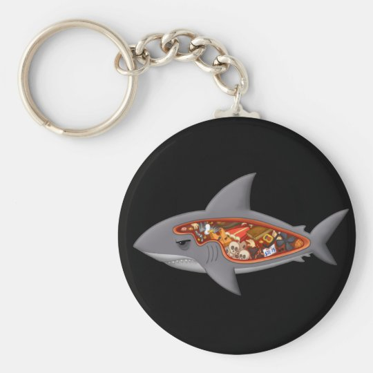 Shark Anatomy Keychain