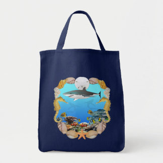 Shark and Reef Tote Bag