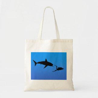 Shark and SCUBA Tote Bag