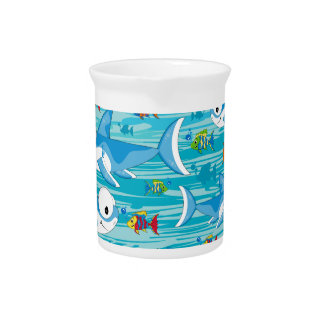 Shark and Tropical Fish Drink Pitcher