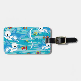 Shark and Tropical Fish Luggage Tag