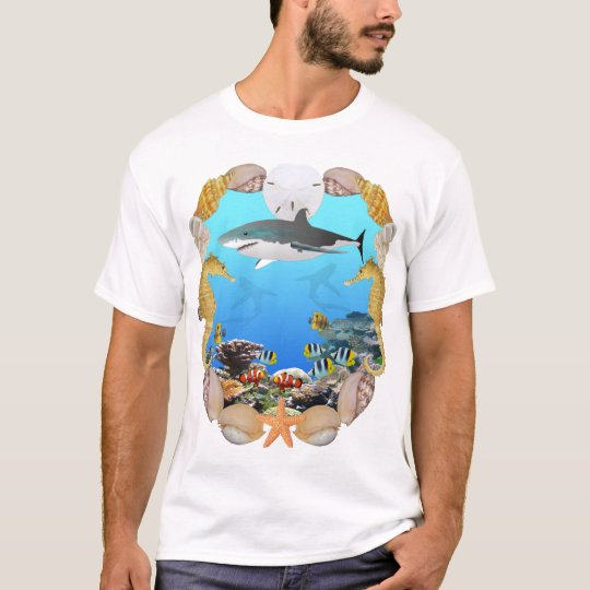 Shark and Tropical Fish T-Shirt