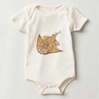 Shark angel, angelote baby bodysuit