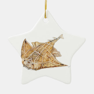 Shark angel, angelote ceramic ornament