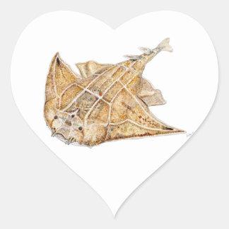 Shark angel, angelote heart sticker