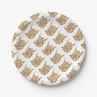 Shark angel, angelote paper plate