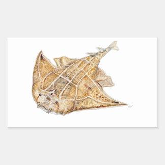 Shark angel, angelote rectangular sticker