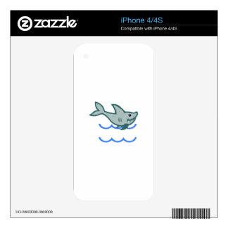 SHARK APPLIQUE NAMEDROP SKINS FOR iPhone 4