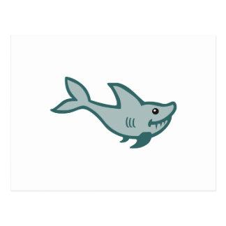SHARK APPLIQUE POSTCARD
