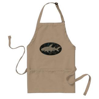 Shark Apron Black White Shark BBQ Apron for him