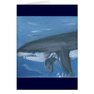 Shark art card