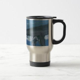 Shark art travel mug
