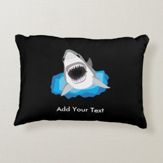 Shark Attack - Add Your Own Funny Caption Accent Pillow