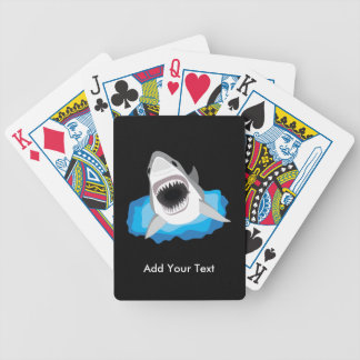 Shark Attack - Add Your Own Funny Caption Bicycle Playing Cards