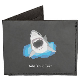 Shark Attack - Add Your Own Funny Caption Billfold Wallet