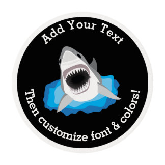 Shark Attack - Add Your Own Funny Caption Edible Frosting Rounds