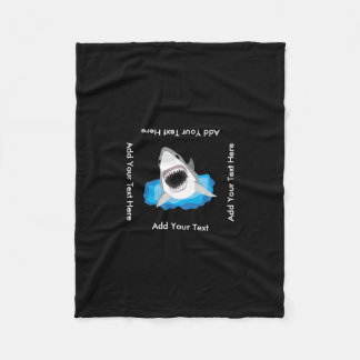 Shark Attack - Add Your Own Funny Caption Fleece Blanket