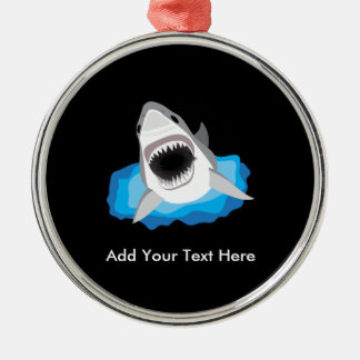 Shark Attack - Add Your Own Funny Caption Metal Ornament