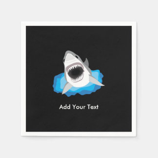 Shark Attack - Add Your Own Funny Caption Napkin