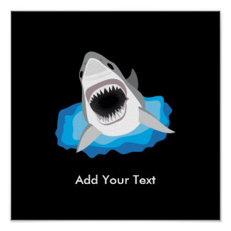 Shark Attack - Add Your Own Funny Caption Poster