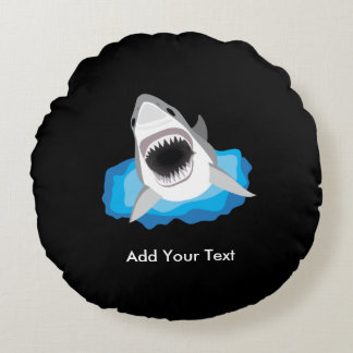 Shark Attack - Add Your Own Funny Caption Round Pillow