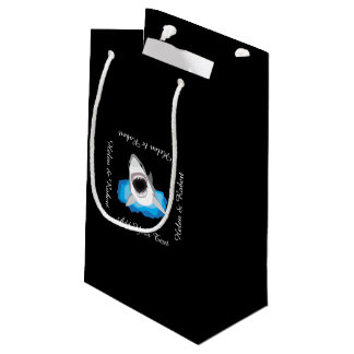 Shark Attack - Add Your Own Funny Caption Small Gift Bag