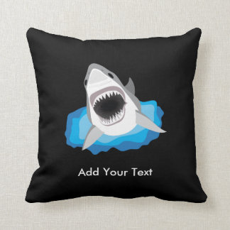 Shark Attack - Add Your Own Funny Caption Throw Pillow
