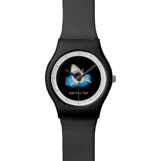 Shark Attack - Add Your Own Funny Caption Wrist Watch