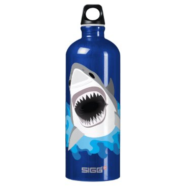 Beach Themed Shark Attack Add Your Own Name Water Bottle
