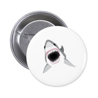 Shark Attack - Bite of the Great White Shark Pinback Button
