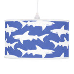Shark Attack - Blue and White Ceiling Lamps