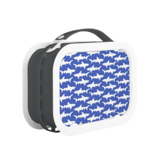 Shark Attack - Blue and White Yubo Lunchbox