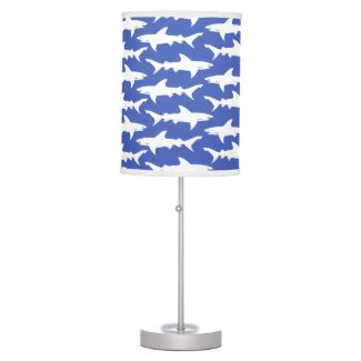 Shark Attack - Blue and White Pendant Lamp