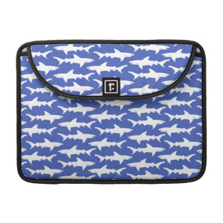Shark Attack - Blue and White Sleeve For MacBook Pro