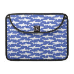 Shark Attack - Blue and White Sleeve For MacBooks