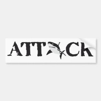 shark attack bumper sticker