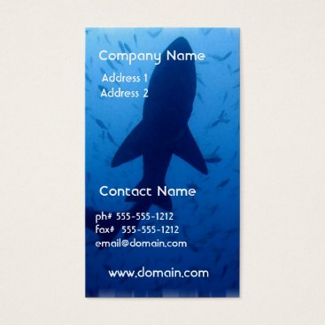 Professional Business Shark Attack Business Card
