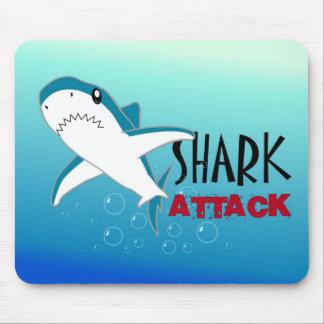 Shark Attack Cartoon Mousepad