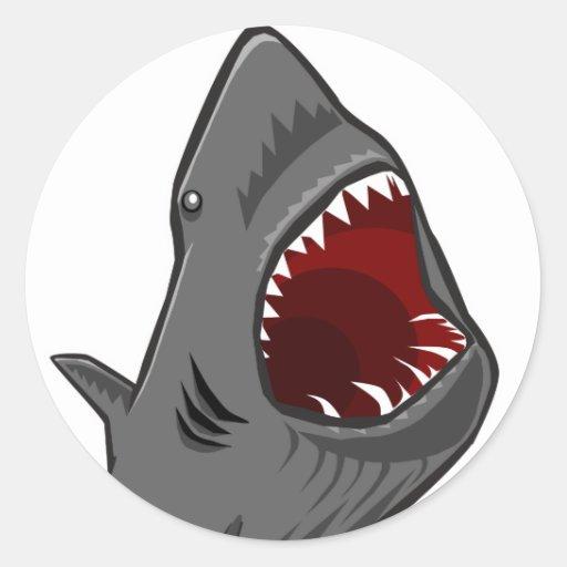 Shark Attack Classic Round Sticker