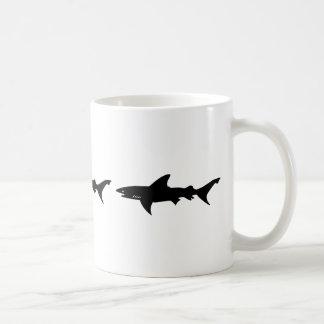 Shark Attack - Diving with Sharks Elegant Black Coffee Mug