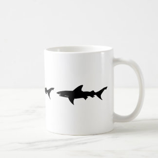 Shark Attack - Diving with Sharks Elegant Black Coffee Mugs