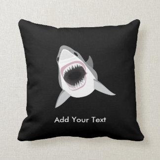 Shark Attack Funny Custom Text Throw Pillow