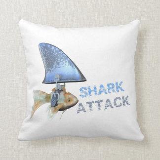 shark attack goldfish pillow