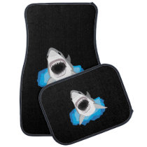 Shark Attack - Great White Shark Car Floor Mat
