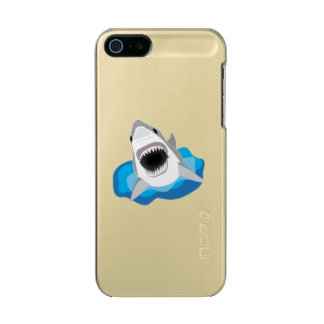 Shark Attack - Great White Shark Funny Cartoon Metallic iPhone SE/5/5s Case